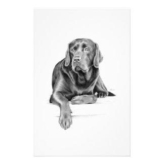 Black Labrador Retriever Stationery Paper