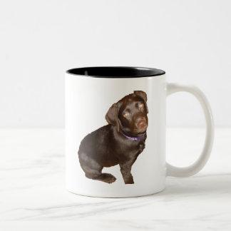 Black Labrador Retriever Two-Tone Coffee Mug
