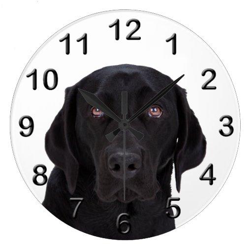 Black Labrador Retriever Wall Clock