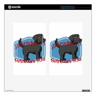 Black Labrador Retrievers Rule! Kindle Fire Skins