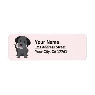 Black Labrador Return Address Labels