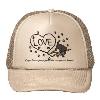 Black Labrador Sand Letters Cartoon Trucker Hat