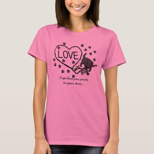 Black Labrador Sand Letters Cartoon T-Shirt
