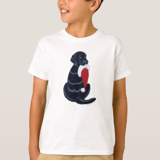 Black Labrador & Santa Hat Snowflake Christmas T-Shirt