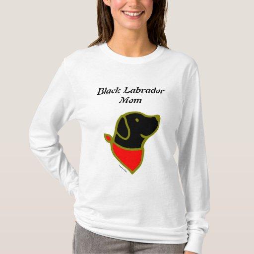 Black Labrador & Scarf Cartoon T-Shirt