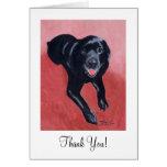 Black Labrador Smiling Greeting Card