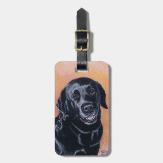 Black Labrador Smiling in the light Travel Bag Tag
