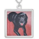 Black Labrador Smiling Necklace