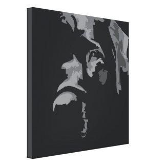 Black Labrador Soulful Eyes Canvas Print