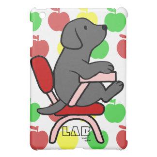 Black Labrador Student 1 Cartoon Cover For The iPad Mini
