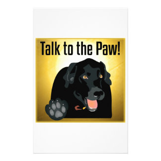 Black Labrador Talk To The Paw! Personalized Stationery
