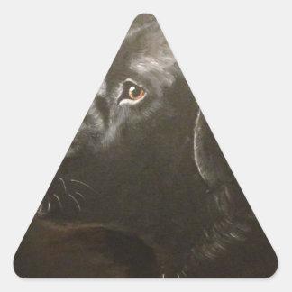 Black Labrador Triangle Sticker