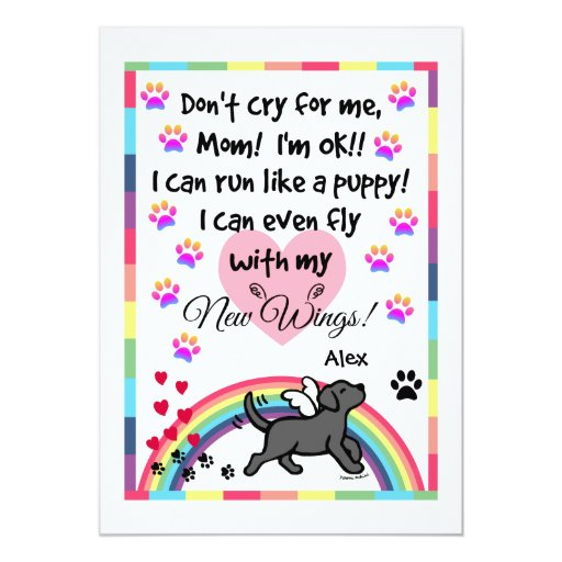 Black Labrador Trotting Memorial Card