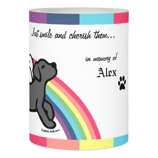 Black Labrador Trotting Memorial LED Candle