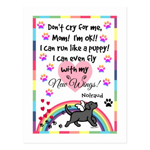 Black Labrador Trotting Memorial Postcard