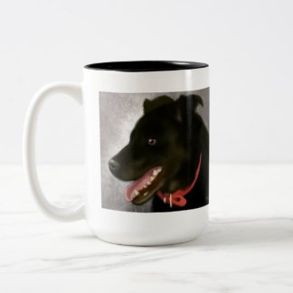 Black Labrador Two Toned Mug