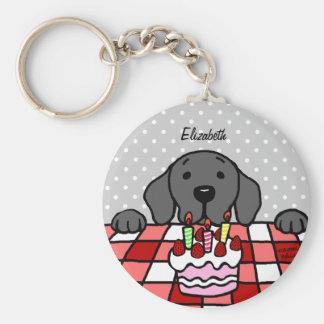 Black Labrador watching you Cake Key Chain