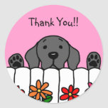 Black Labrador watching you Classic Round Sticker