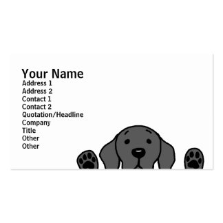 Black Labrador watching you Double-Sided Standard Business Cards (Pack Of 100)
