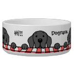 Black Labrador watching you Kitchen Dog Food Bowl