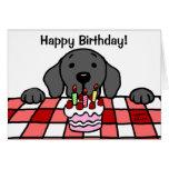 Black Labrador watching you Kitchen Greeting Card