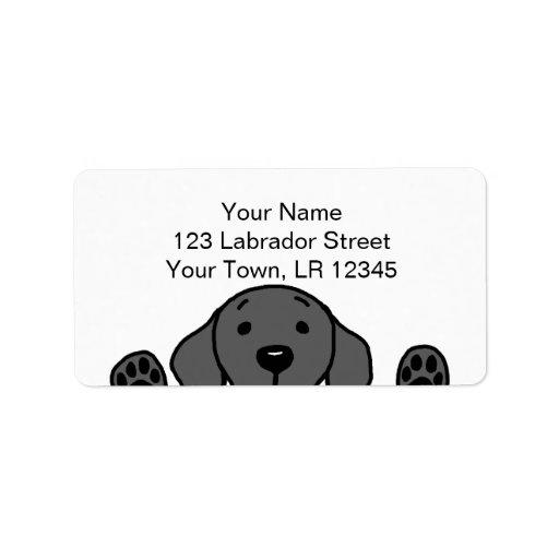 Black Labrador watching you Personalized Address Label