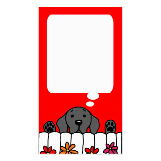 Black Labrador watching you message card Double-Sided Standard Business Cards (Pack Of 100)