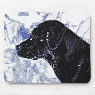 Black Labrador - Winter Wonderland Mouse Pad