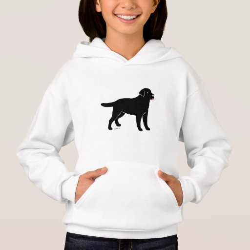 Black Labrador with a Little Tongue Hoodie