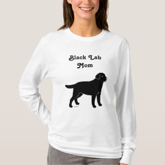 Black Labrador with a Little Tongue T-Shirt