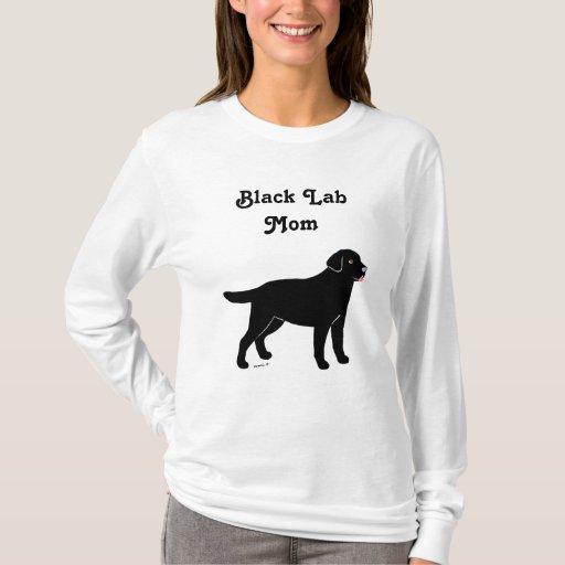 Black Labrador with a Little Tongue T-Shirt