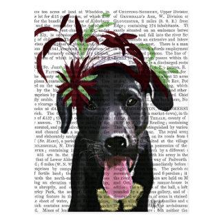 Black Labrador With Green Fascinator Postcard