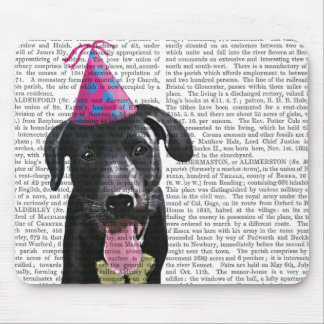 Black Labrador With Party Hat Mouse Pad