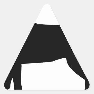 Black Labrador with Red Collar Triangle Sticker