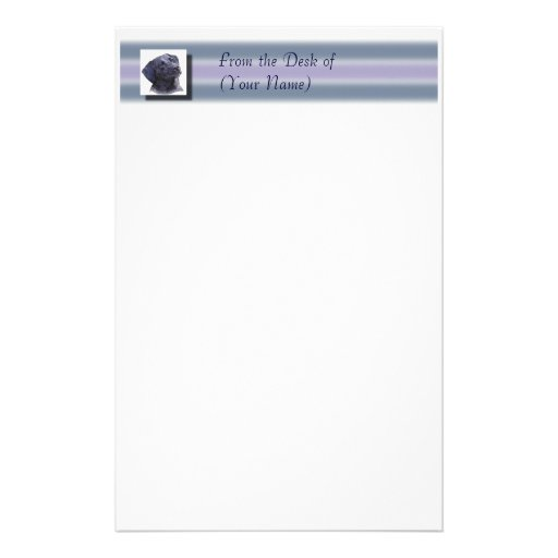 Black Labradore Stationary - From the Desk of ... Stationery