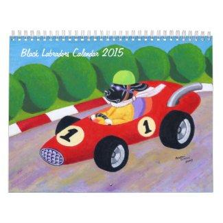 Black Labradors Calendar 2015