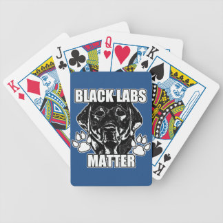 BLACK LABS MATTER 2 BICYCLE PLAYING CARDS