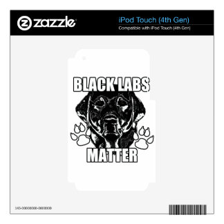 BLACK LABS MATTER 2 SKIN FOR iPod TOUCH 4G