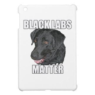 Black Labs Matter Two iPad Mini Cover
