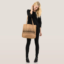 Black Lace Abstract Patterns Elegant Leather Tote