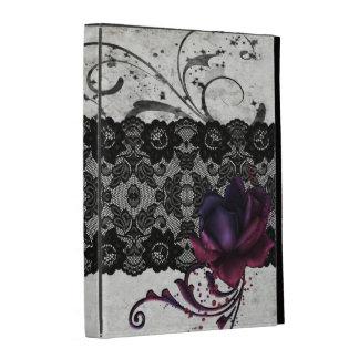 Black Lace and Gothic Rose iPad Folio Cases