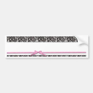Black Lace and Pink Ribbon Bumper Sticker