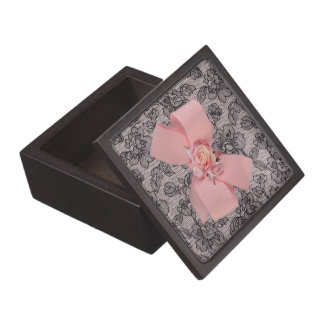 Black Lace and Roses Jewelry Box