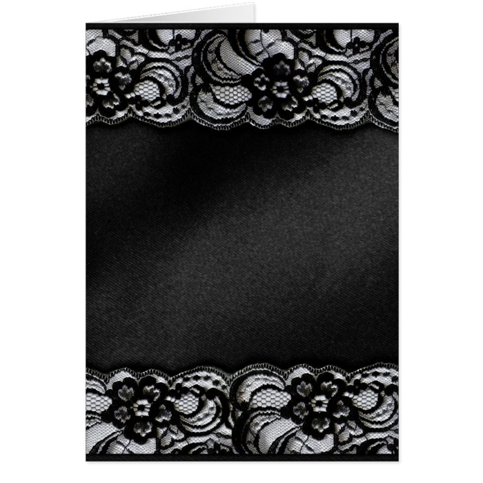 Black Lace and Satin Card