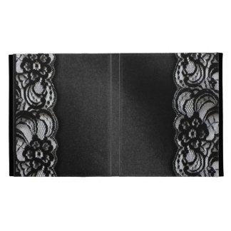 Black Lace and Satin iPad Folio Covers