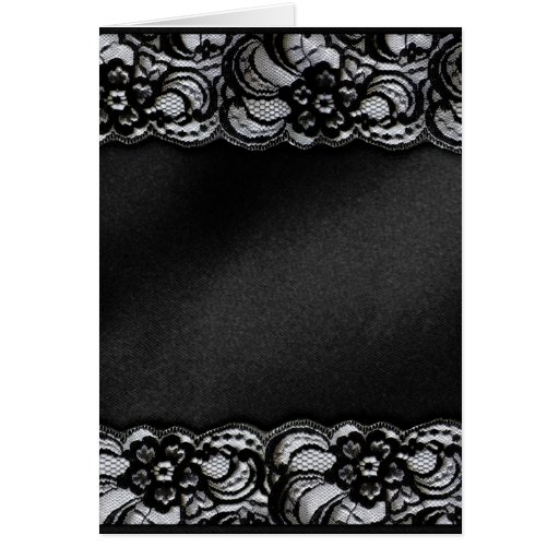 Black Lace and Satin Greeting Card