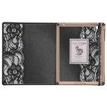 Black Lace and Satin iPad Case