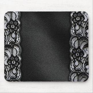 Black Lace and Satin Mouse Pad