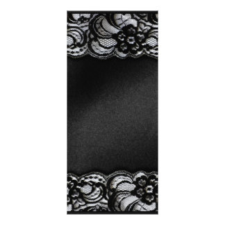 Black Lace and Satin Rack Card