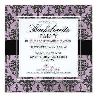 Black Lace Bachelorette Party Invitations